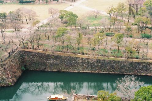 Osaka castle inner moat